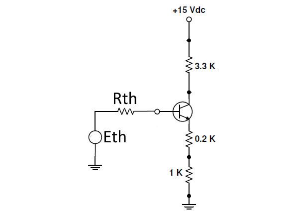 BJT amplifier DC equivalent